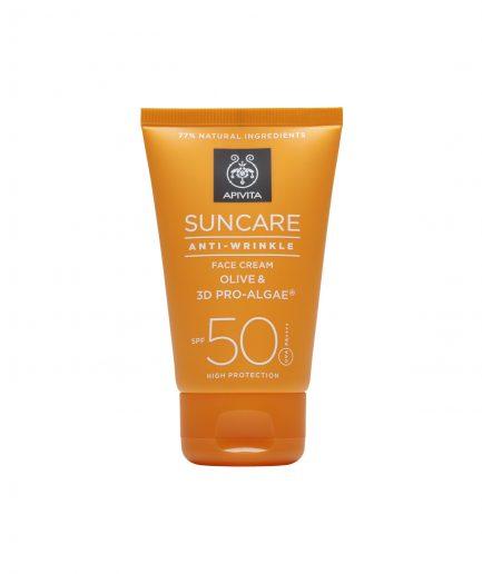 Apivita Protezione Solare Viso Anti-Wrinkle SPF50 itzi hub il luogo sicuro per i tuoi regali