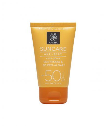 Apivita Protezione Solare Viso Anti-Spot SPF50 itzi hub il luogo sicuro per i tuoi regali