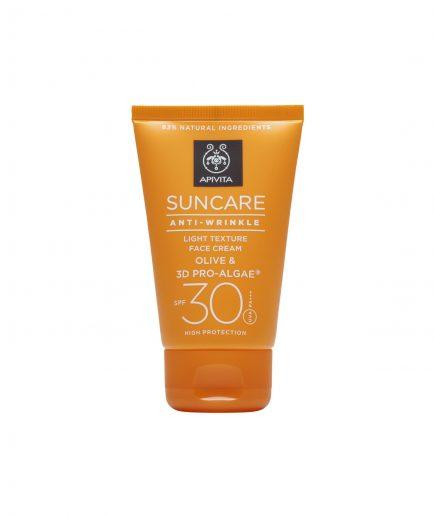 Apivita Protezione Solare Viso Anti-Wrinkle SPF30 itzi hub il luogo sicuro per i tuoi regali
