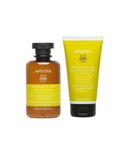 Apivita Shampoo e Balsamo Uso Frequente itzi hub il luogo sicuro per i tuoi regali