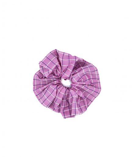 le pezze scrunchie grande cotone a quadri rosa itzi hub il luogo sicuro per i tuoi regali