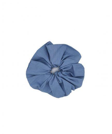 le pezze scrunchie grande cotone a righe azzurro itzi hub il luogo sicuro per i tuoi regali