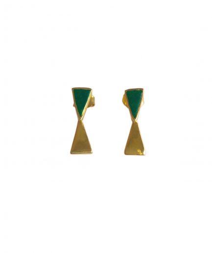 Adelaida Jewels Orecchini Land Onice Verde - ITZI HUB: il luogo sicuro per i tuoi regali01