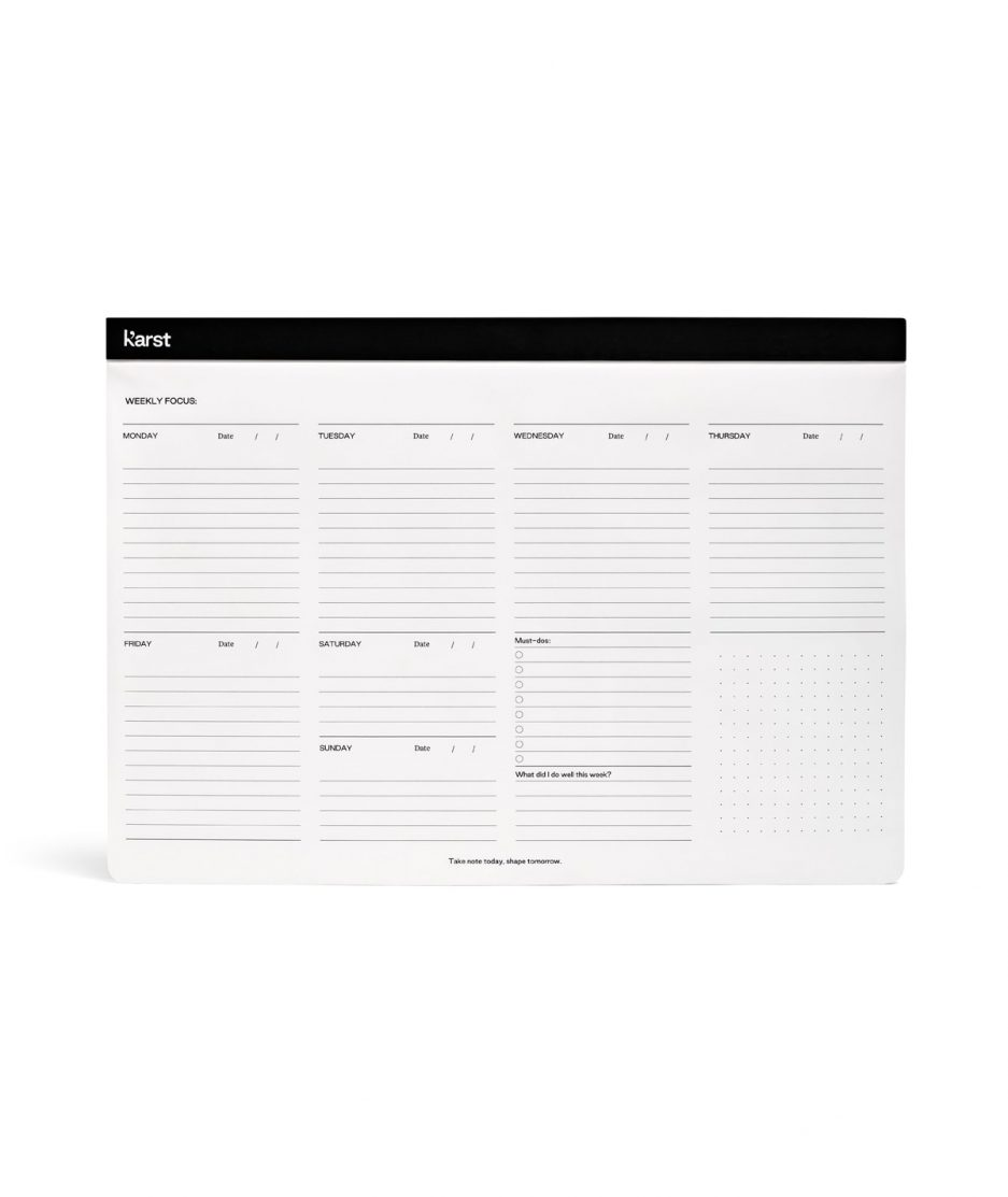 karts weekly desk pad black itzi hub il luogo sicuro per i tuoi regali