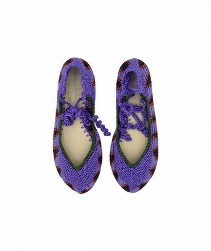 Kashura Ballerine Modello Alto con Lacci Lavender Violet - ITZI HUB: il luogo sicuro per i tuoi regali