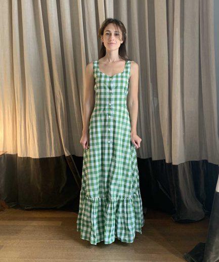 Lavi Couture Maxi Abito Quadretti Verde - ITZI HUB: il luogo sicuro per i tuoi regali