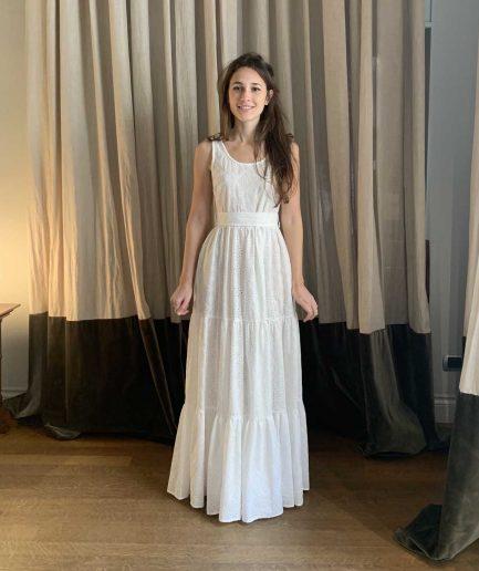 Lavi Couture Maxi Abito Senza Maniche San Gallo - ITZI HUB: il luogo sicuro per i tuoi regali