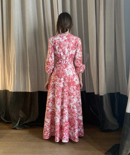 Lavi Couture Maxi Abito Stampa Rossa - ITZI HUB: il luogo sicuro per i tuoi regali