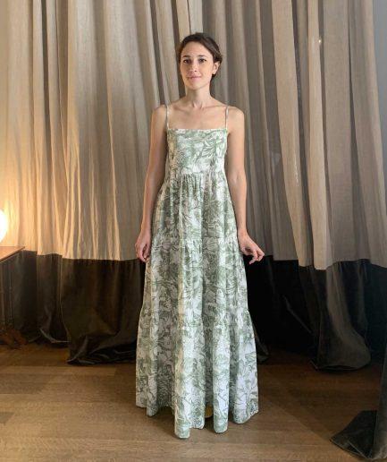 Lavi Couture Maxi Abito Stampa Verde - ITZI HUB: il luogo sicuro per i tuoi regali