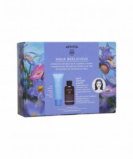 Apivita prodotti naturali per viso, corpo e capelli. Apivita Cofanetto Aqua Beelicious Pelli Secche. Beauty. ITZI HUB il luogo sicuro per i tuoi regali