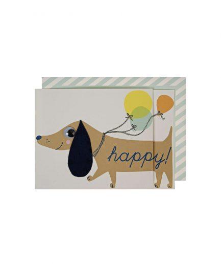 Meri Meri Biglietto di Compleanno Bassotto - ITZI HUB: il luogo sicuro per i tuoi regali