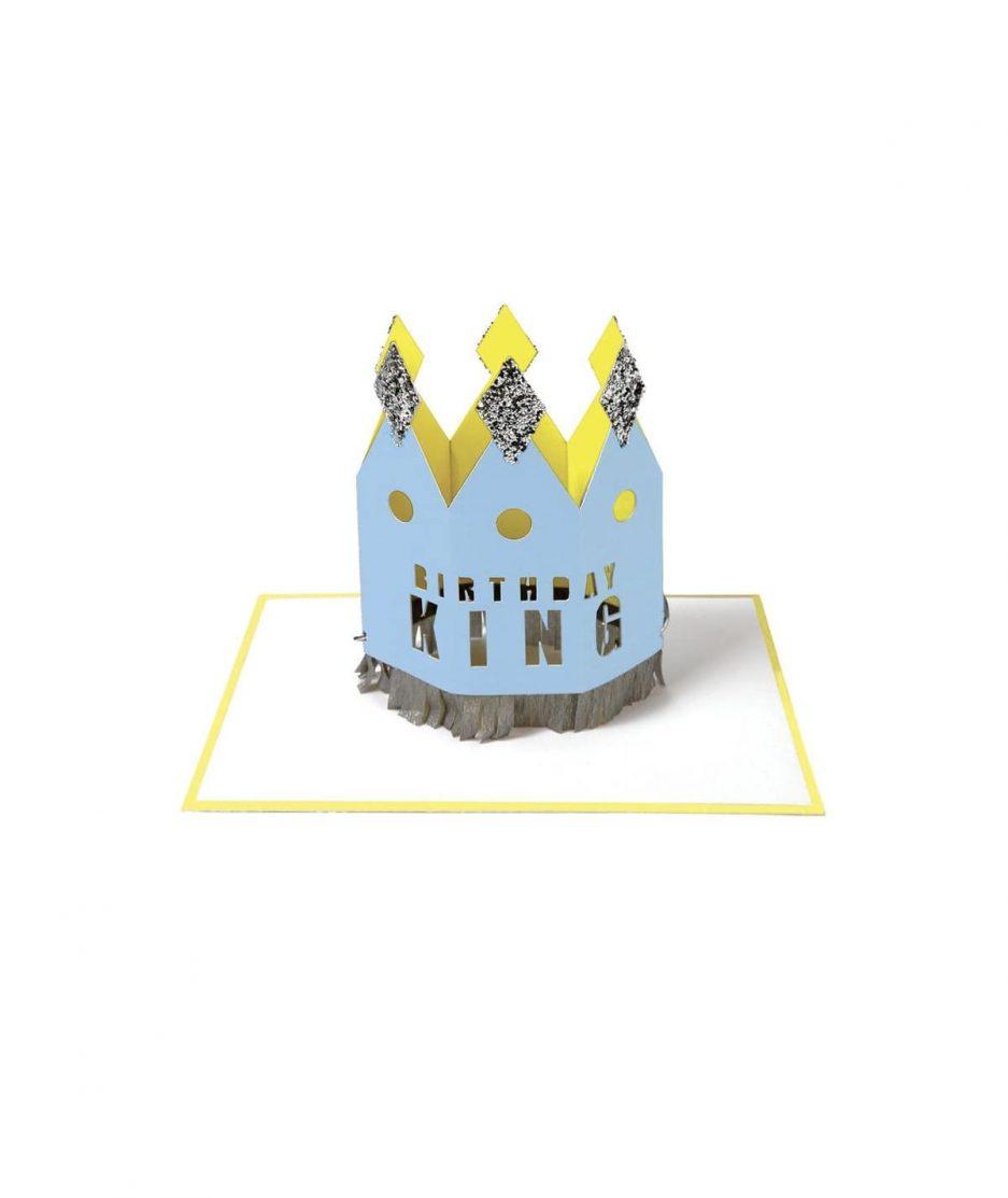 Meri Meri Biglietto di Compleanno Corona da Re - ITZI HUB: il luogo sicuro per i tuoi regali