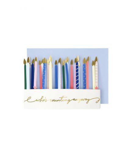 Meri Meri Biglietto di Compleanno Ghirlanda di Candele - ITZI HUB: il luogo sicuro per i tuoi regali