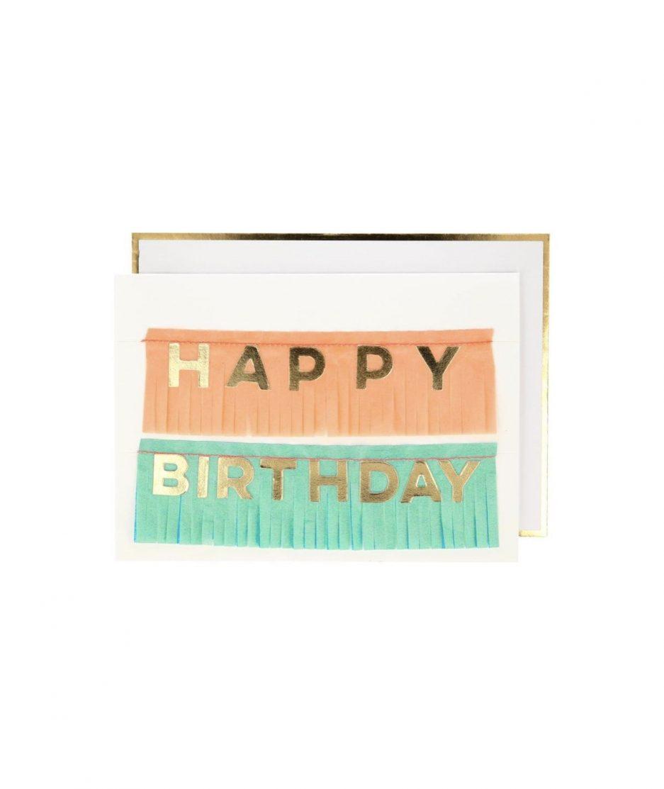 Meri Meri Biglietto di Compleanno Ghirlanda di Frange - ITZI HUB: il luogo sicuro per i tuoi regali