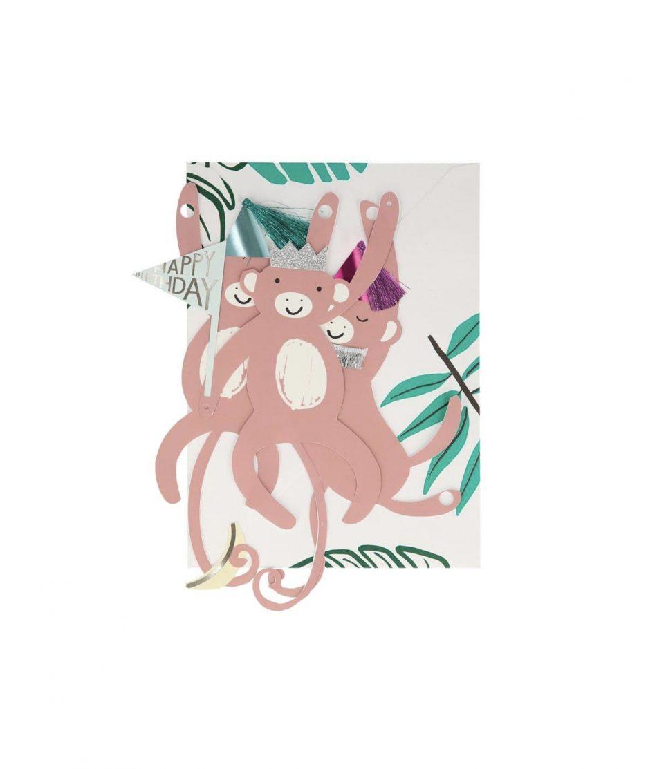 Meri Meri Biglietto di Compleanno Ghirlanda di Scimmie - ITZI HUB: il luogo sicuro per i tuoi regali