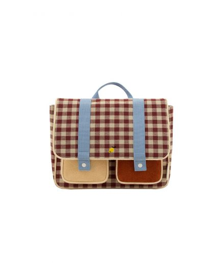 Sticky-lemon-school-bag-gingham-marrone-e-blu-itzi-hub-il-luogo-sicuro-per-i-tuoi-regali