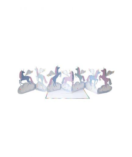 Meri Meri Biglietto di Compleanno Ghirlanda di Unicorni - ITZI HUB: il luogo sicuro per i tuoi regali