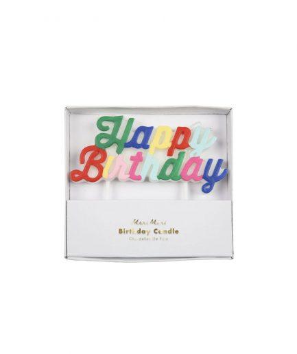 Meri Meri Candeline Happy Birthday - ITZI HUB: il luogo sicuro per i tuoi regali